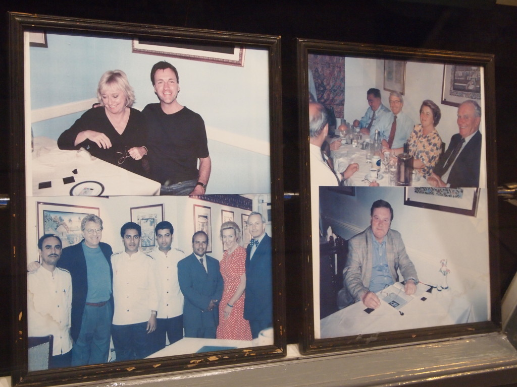 Richard & Judy, John Major, Jerry Springer, Ken Clarke in the window of Gandhi's, Kennington