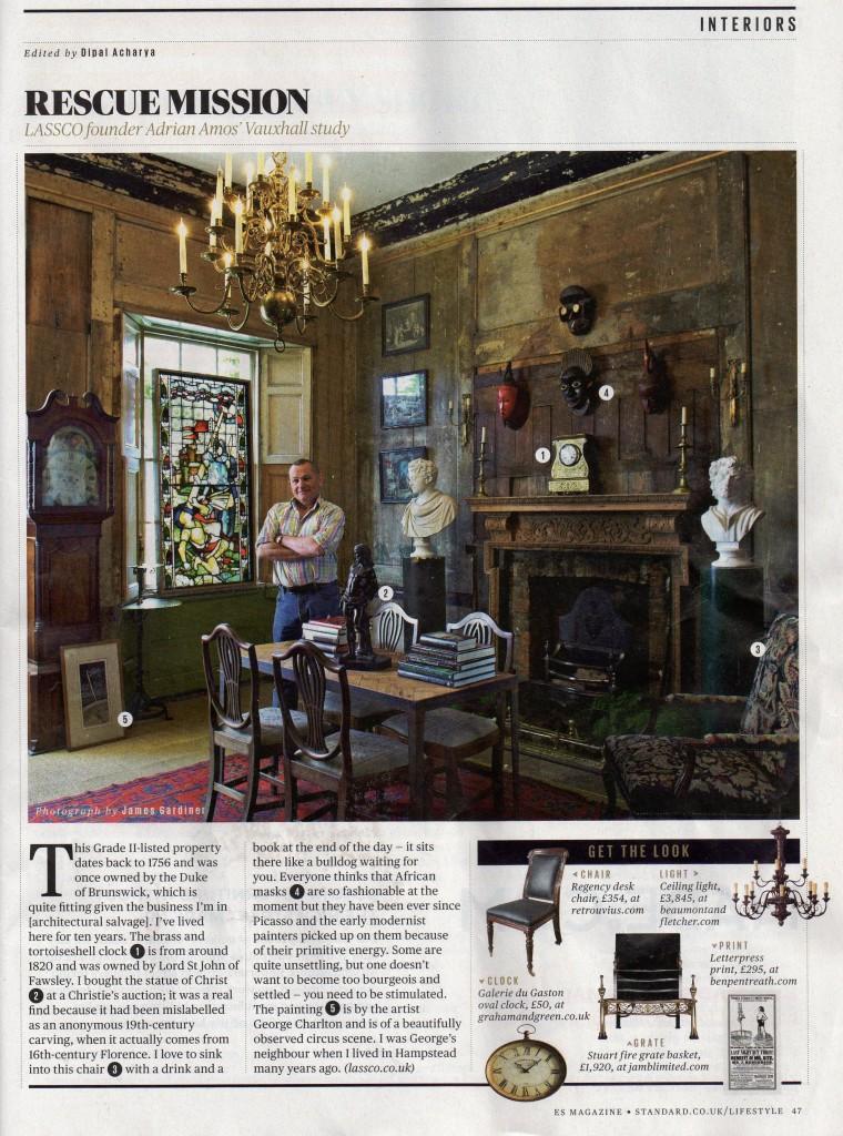 Adrian Amos in ES magazine