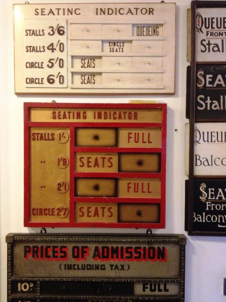 Signs at the Cinema Museum - kenningtonrunoff.com