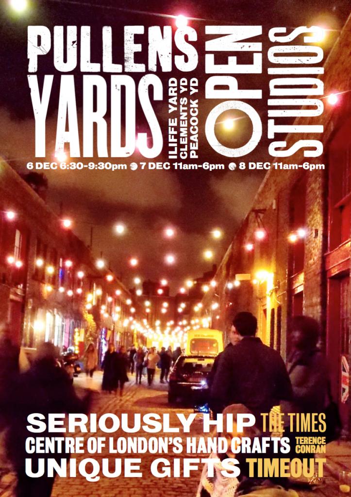 Pullens Yard open studios flier