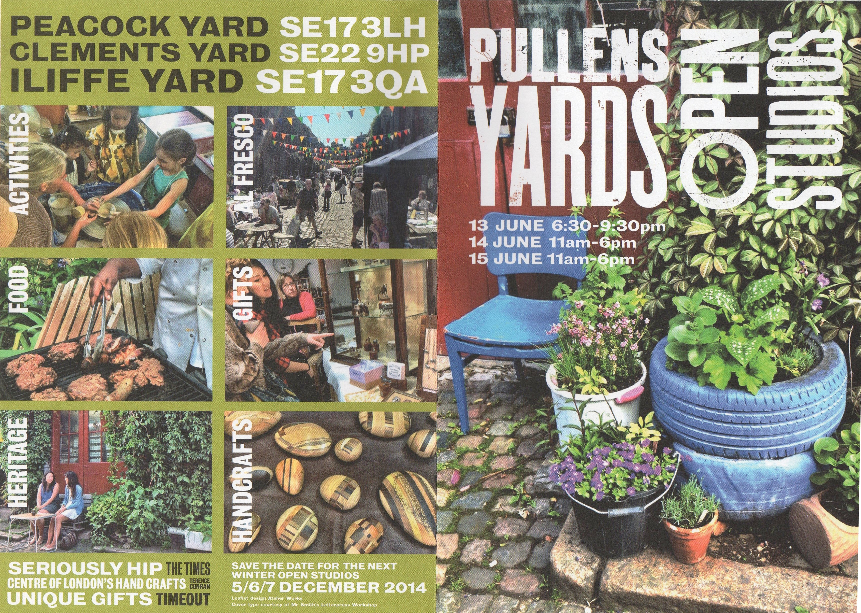 Pullens Yards Open Studios leaflet - kenningtonrunoff.com