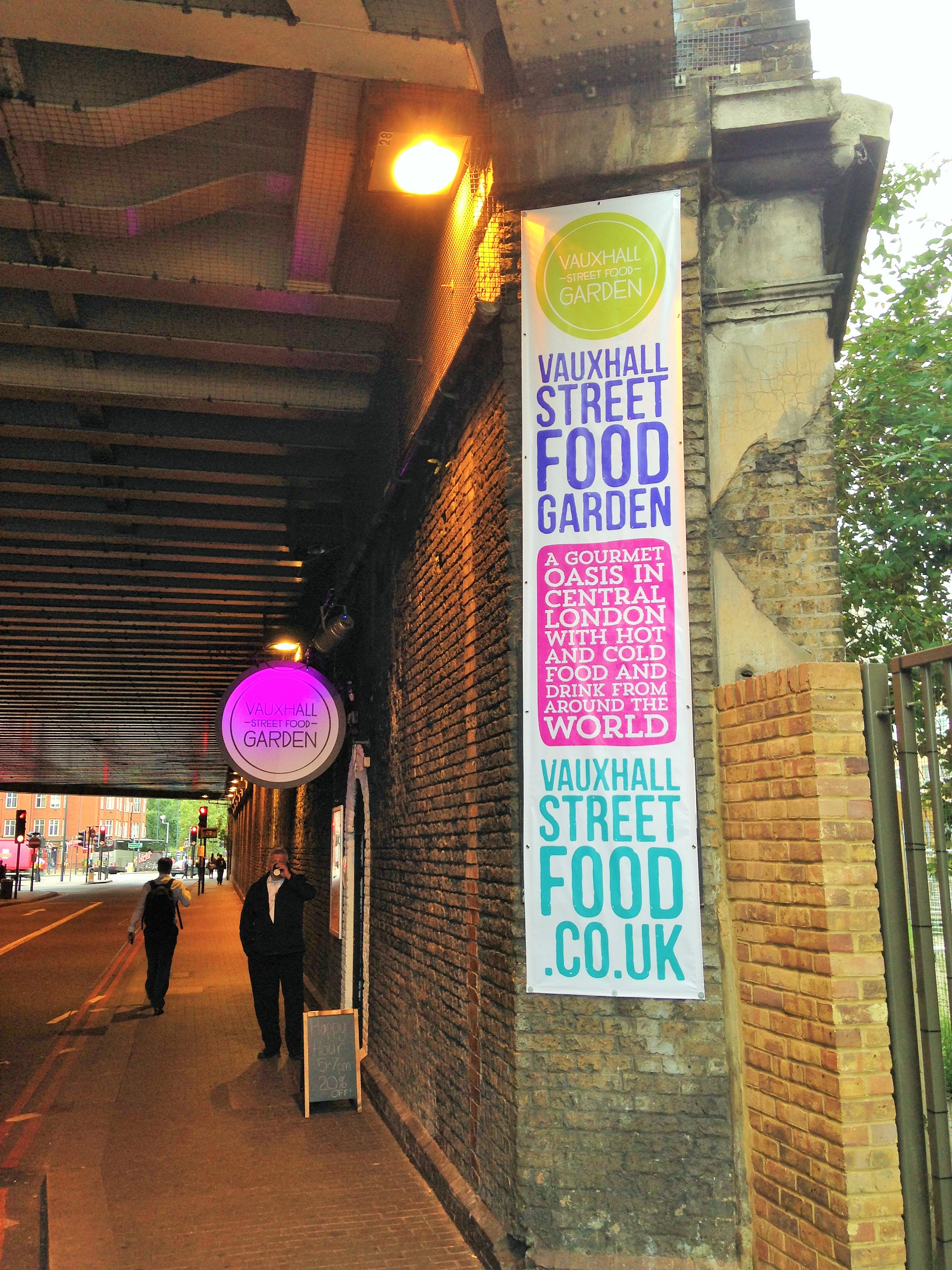 Vauxhall Street Food Market entrance - kenningtonrunoff.com