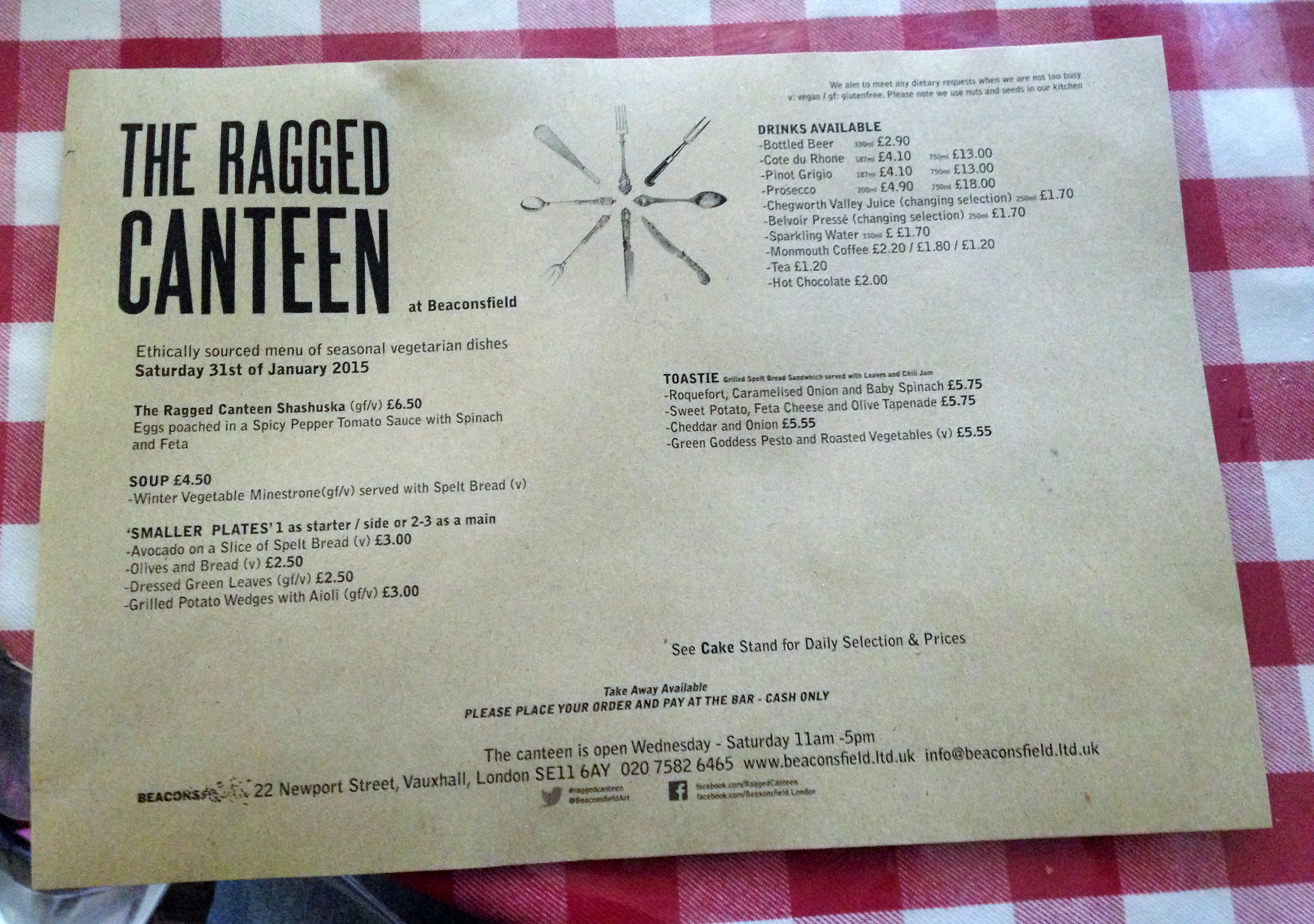 The Ragged Canteen Saturday brunch menu - kenningtonrunoff.com