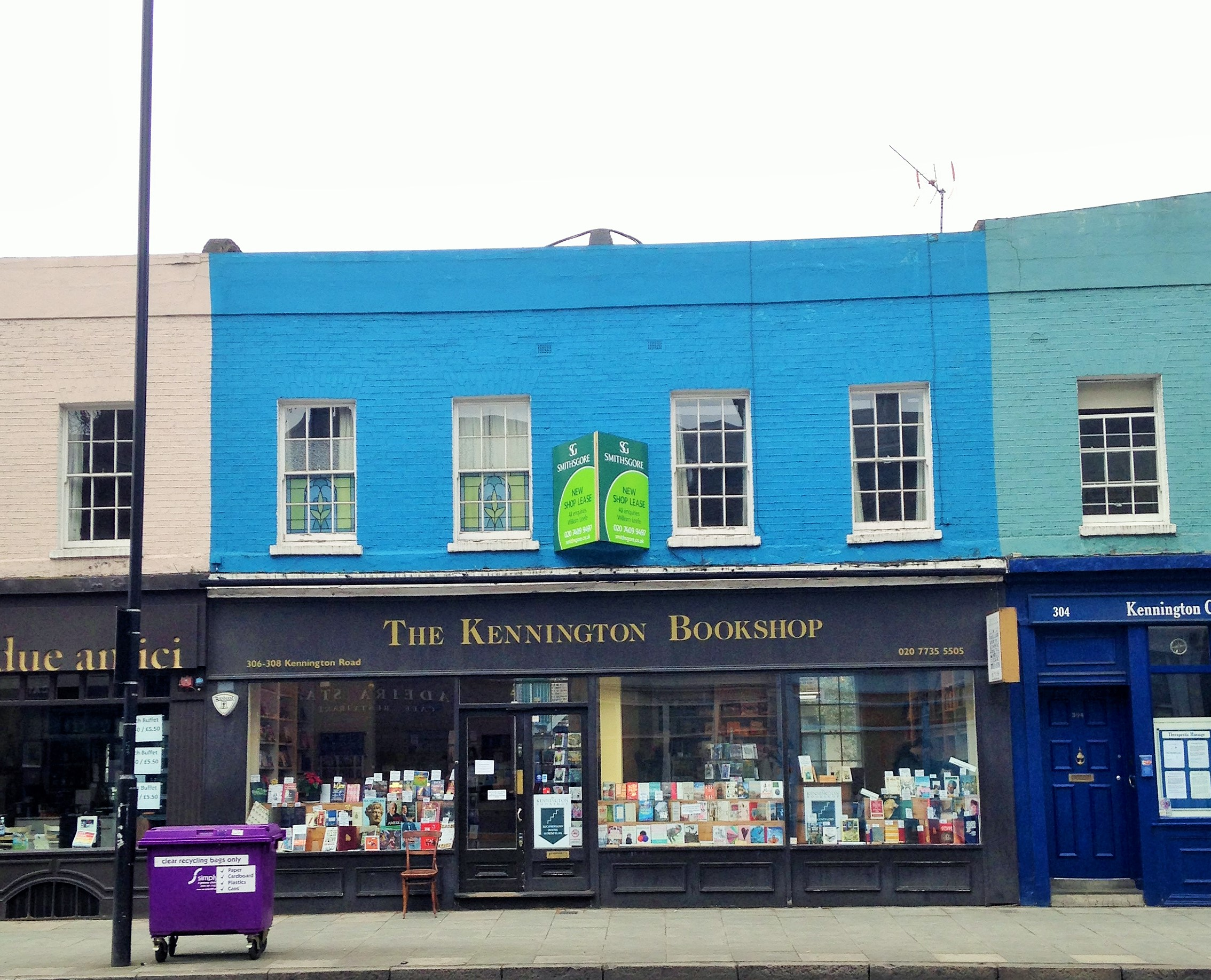 Kennington Bookshop with new shop lease sign up - kenningtonrunoff.com