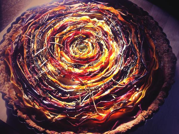 i'klectik veggie rainbow tart