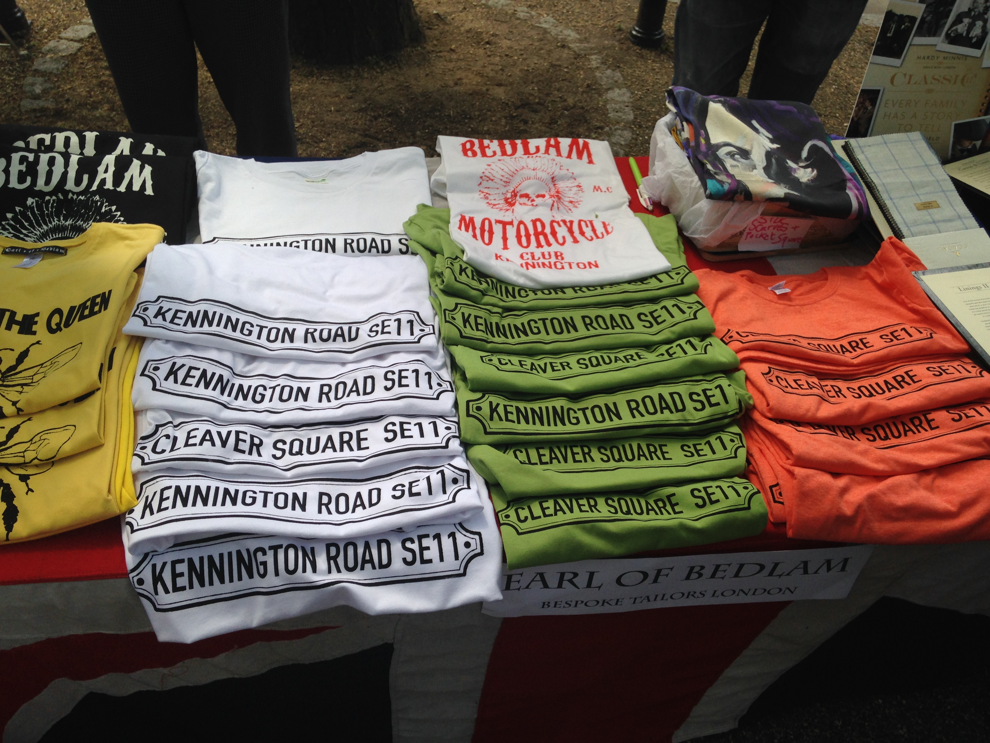 Earl of Bedlam t-shirts at Kennington Village Fete - kenningtonrunoff.com