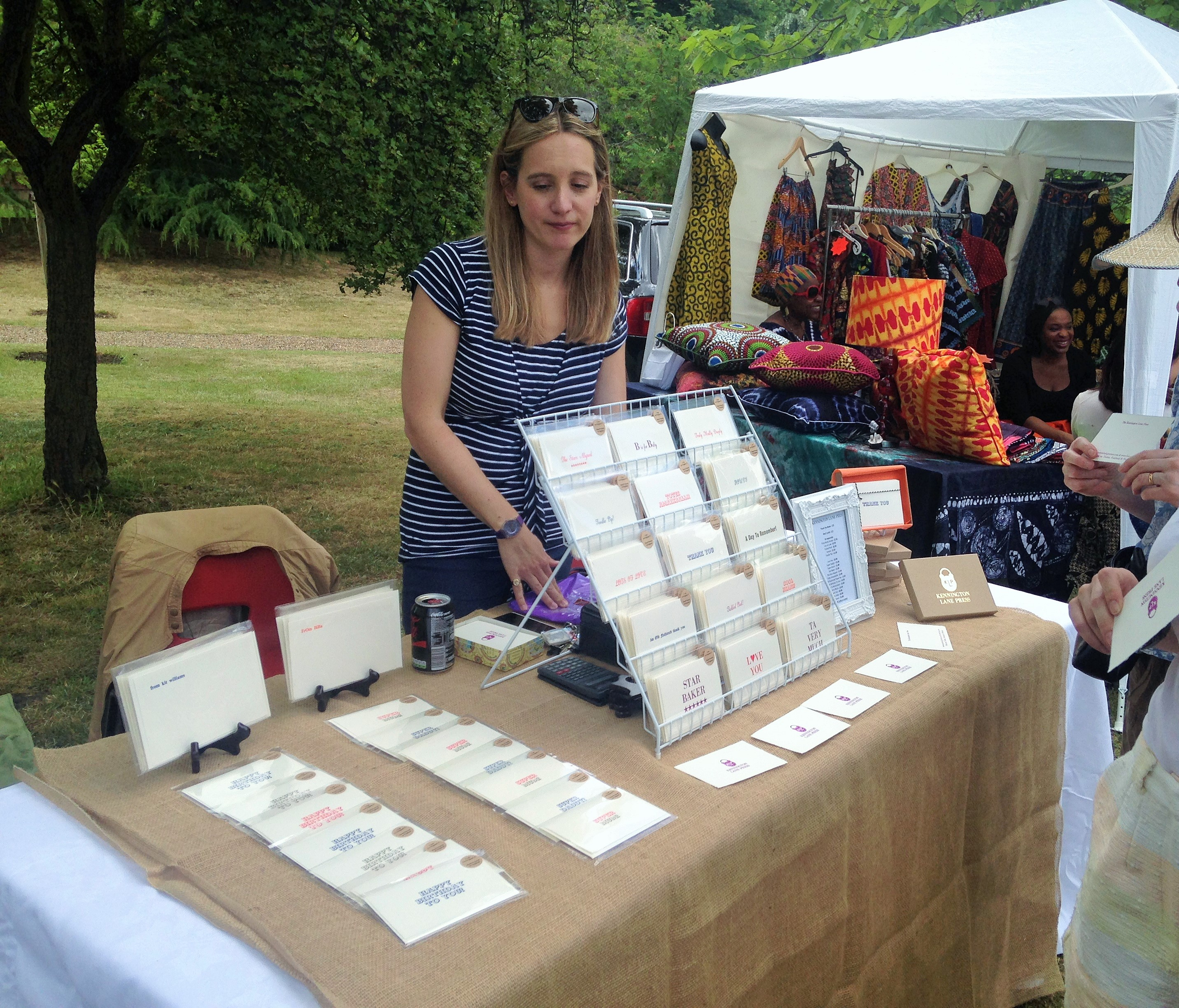 Kennington Lane Letter Press stall at North Lambeth Parish Fete
