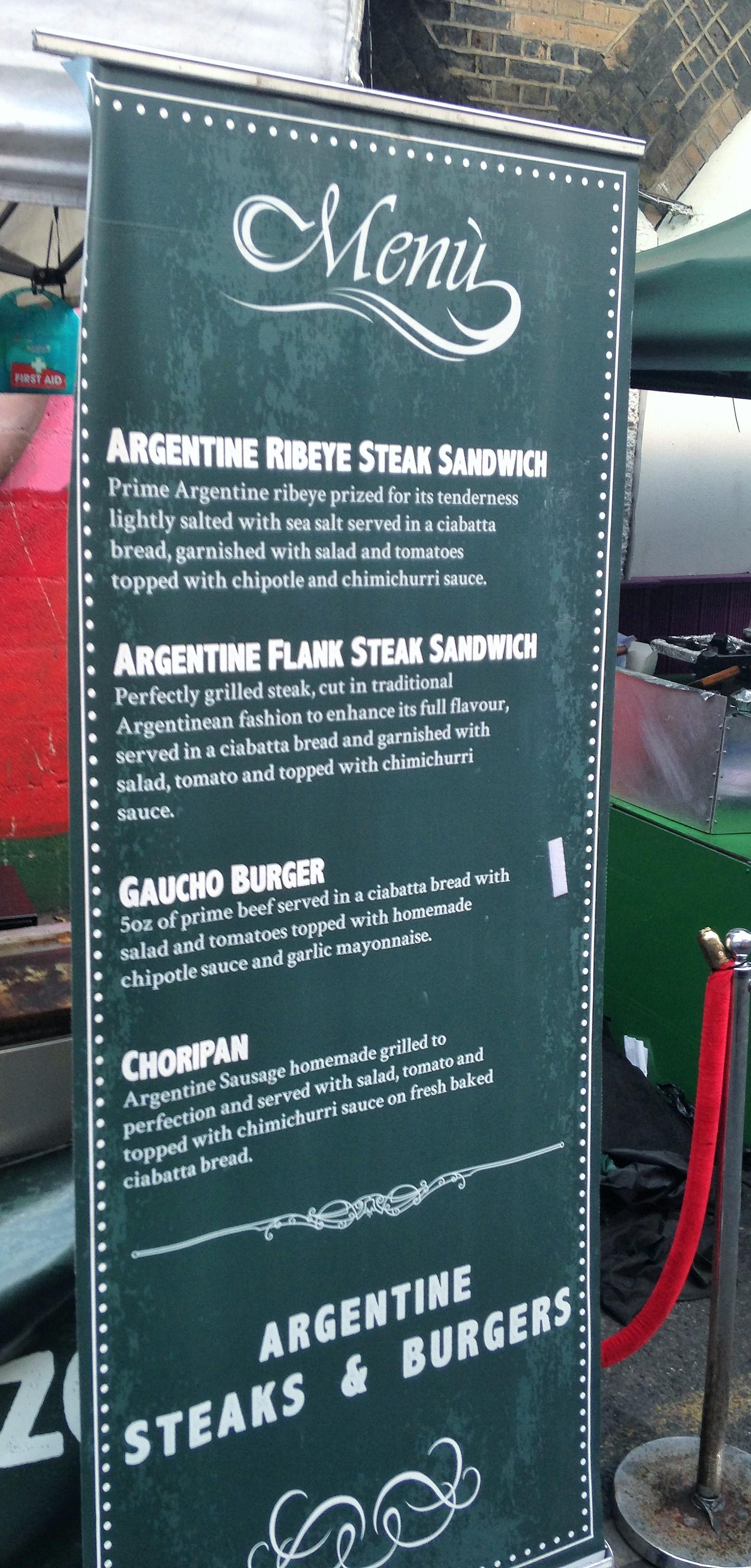 Argentine Steaks & Burgers