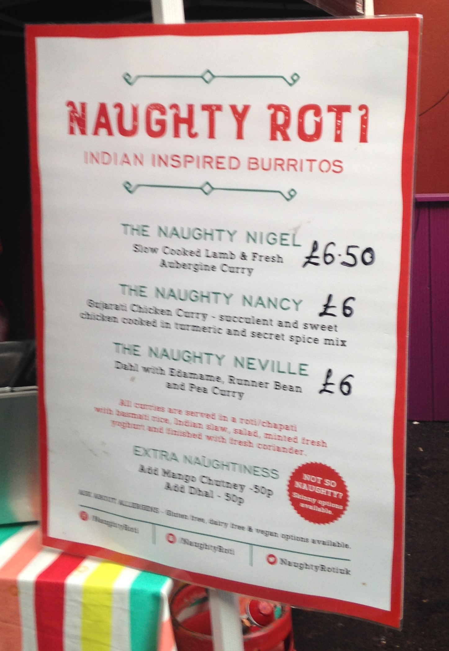 Naughty Roti - Indian inspired burritos