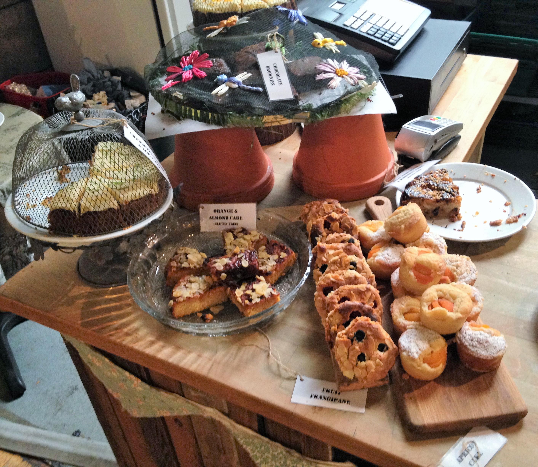 The Garden Cafe cakes