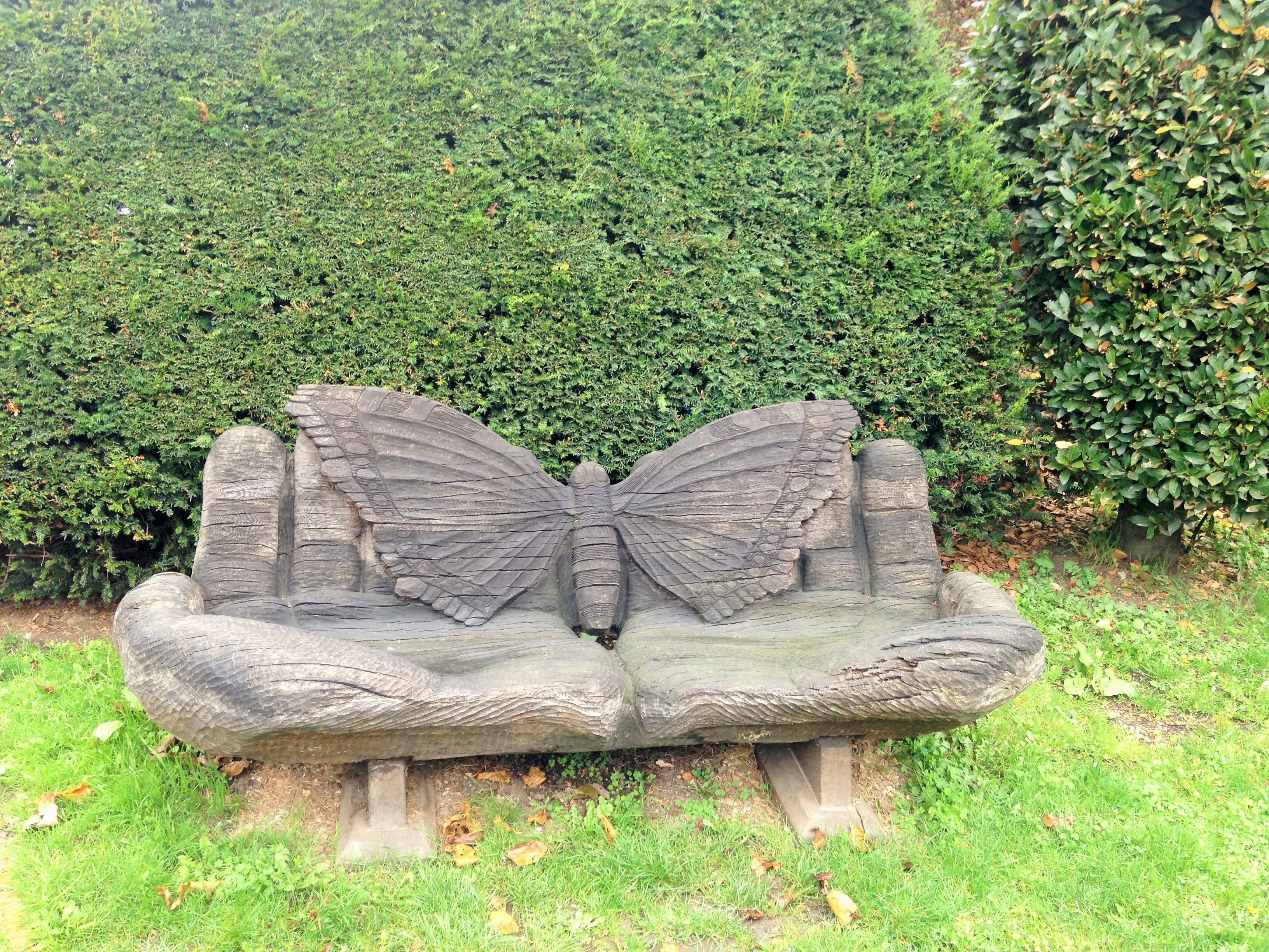 Walworth Garden Farm butterfly bench - kenningtonrunoff.com