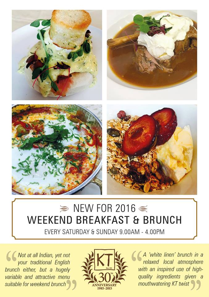 Kennington Tandoori breakfast & brunch flier