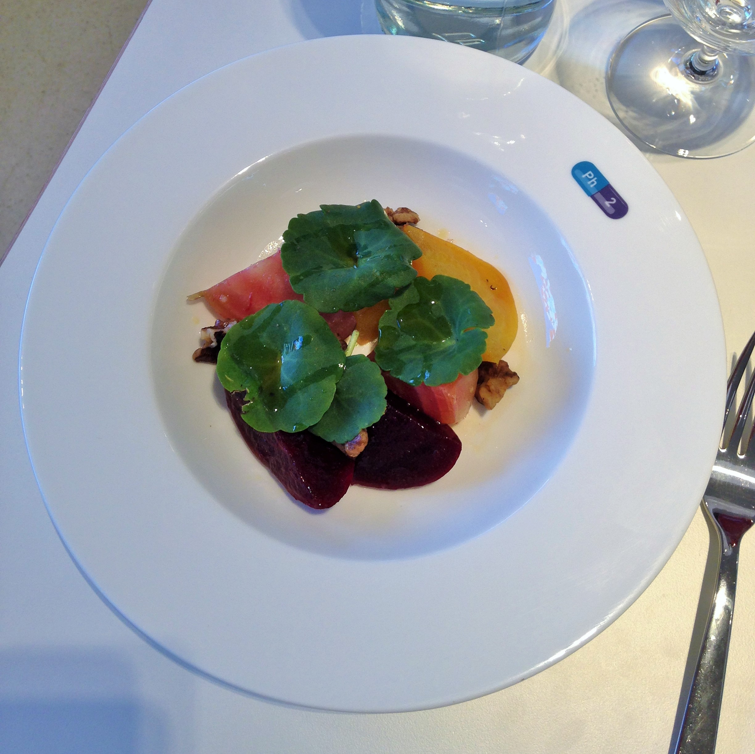 heritage beets with walnuts and chickweed at Pharmacy 2 - kenningtonrunoff.com