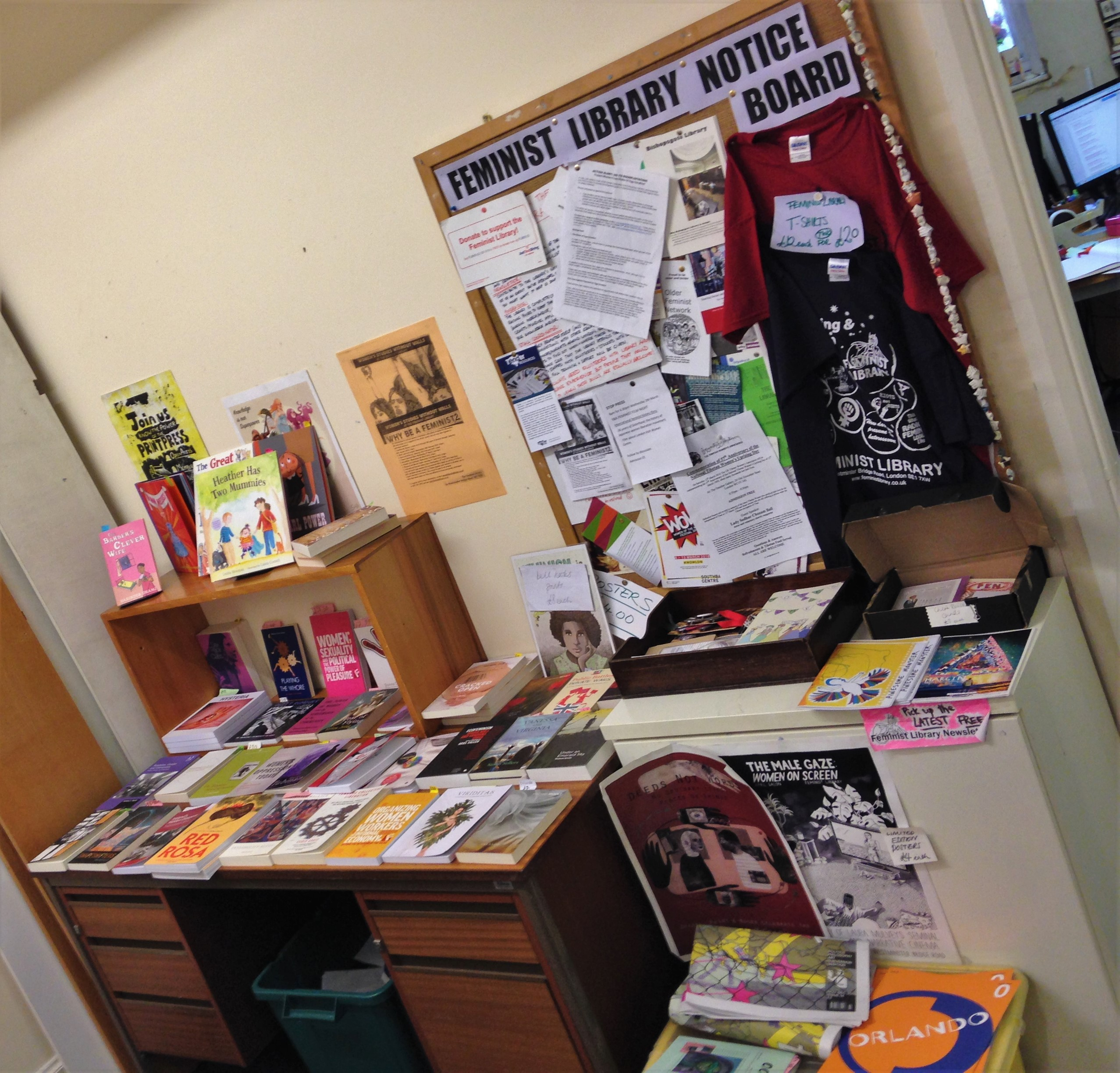 The Feminist Library - noticeboard and merch - kenningtonrunoff.com