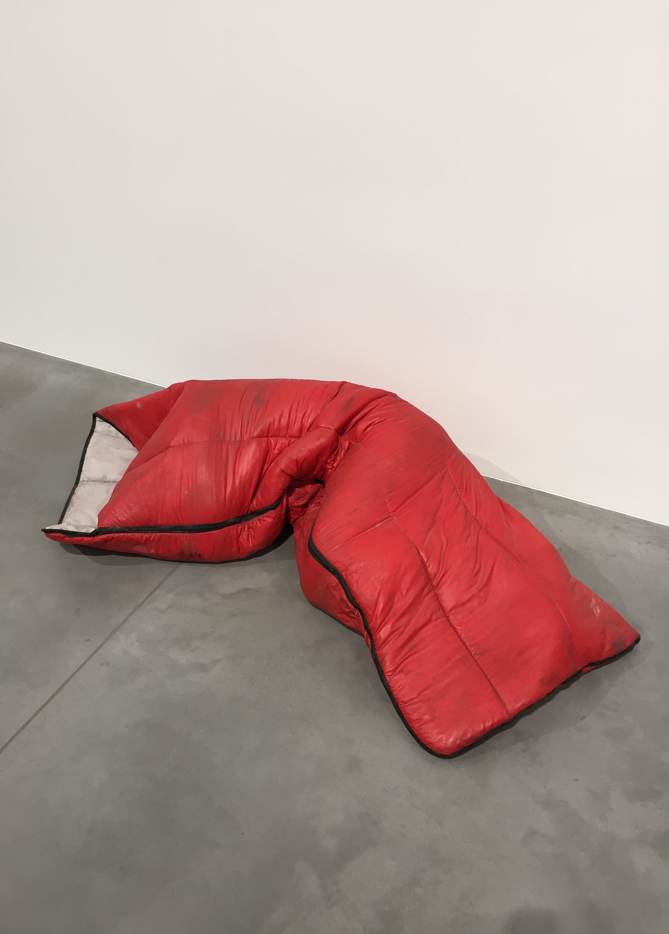 Gavin Turk sleeping bag at Newport Street Gallery - kenningtonrunoff.com
