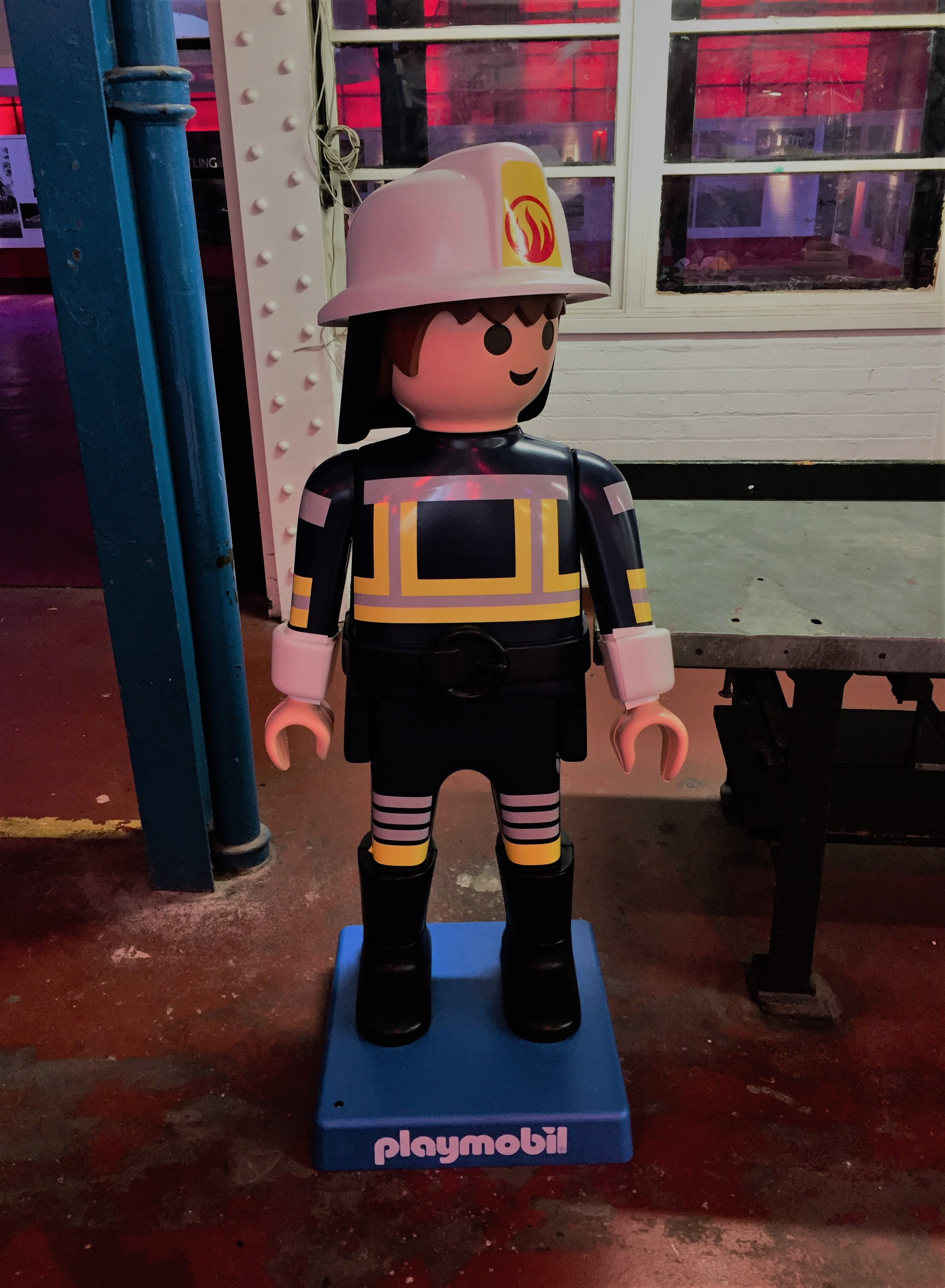 lego firewoman at London Fire Brigade Museum - kenningtonrunoff.com