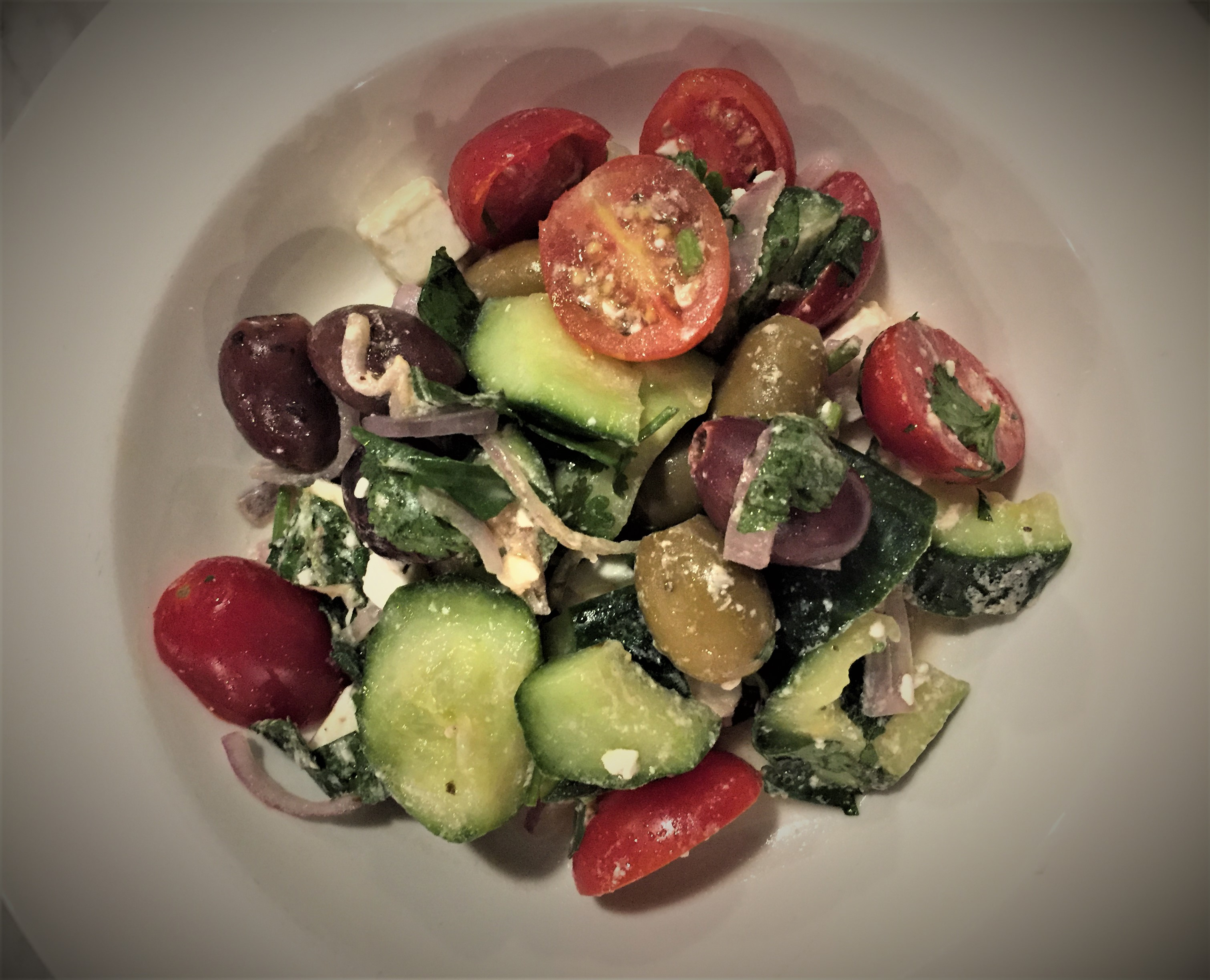 Mahrez's Greek salad at Counter Termini - kenningtonrunoff.com