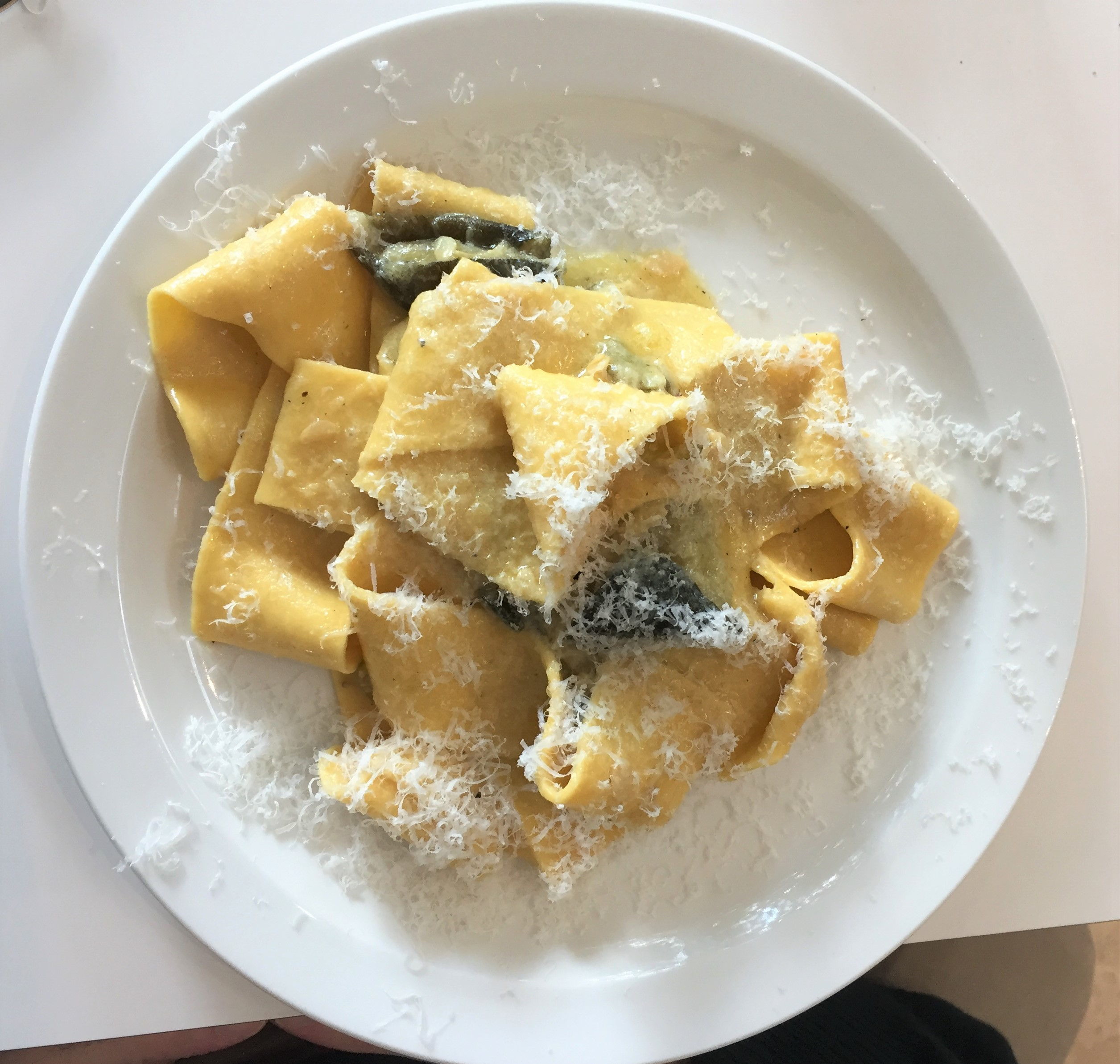 Pappardelle, courgettes and parmesan at The Garden Cafe Museum - kenningtonrunoff.com
